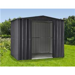 OOS - BACK W/C 15TH MARCH 2021 - 8ft x 5ft Premier EasyFix – Apex – Metal Shed - Anthracite Grey (2.45m x 1.54m)