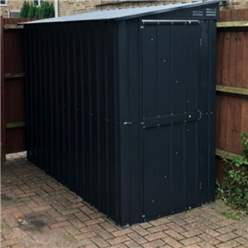 OOS - BACK JULY 2021 - 4ft x 6ft Premier EasyFix - Lean To Pent - Metal Shed - Anthracite Grey (1.24m x 1.80m)