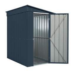 OOS - BACK JULY 2021 - 4ft x 8ft Premier EasyFix - Lean To Pent - Metal Shed - Anthracite Grey (1.24m x 2.42m)