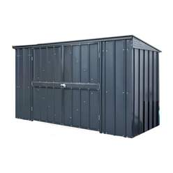 OOS - BACK JULY 2021 - 7ft x 3ft Premier EasyFix – Pent – Triple Bin Store -Anthracite Grey (2.36m x 1.01m)