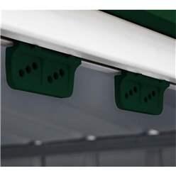 OOS - BACK JUNE 2021 - 10ft x 6ft Premier EasyFix – Apex – Metal Shed - Heritage Green (3.07m x 1.85m)