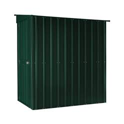 4ft x 8ft  Premier EasyFix - Lean To Pent - Metal Shed - Heritage Green (1.24m x 2.42m)