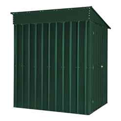OOS - BACK W/C 26TH APRIL 2021 - 5ft x 8ft Premier EasyFix - Lean To Pent - Metal Shed - Heritage Green (1.55m x 2.42m)