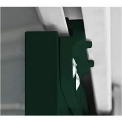 6ft x 3ft Premier EasyFix - Pent - Metal Shed - Heritage Green (1.80m x 0.93m)
