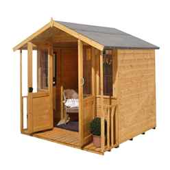 INSTALLED 7ft x 7ft Willow Summerhouse - INSTALLATION INCLUDED