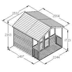 8ft x 8ft Maple Summerhouse