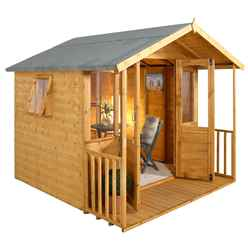 INSTALLED 8ft x 8ft Maple Summerhouse - INSTALLATION INCLUDED