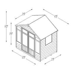 7ft x 5ft Oakley Pressure Treated Overlap Summerhouse (219cm x 146cm) (CORE)
