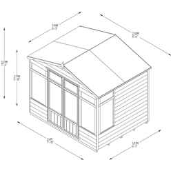 8ft x 6ft Oakley Pressure Treated Overlap Summerhouse (258cm x 193cm) (CORE)