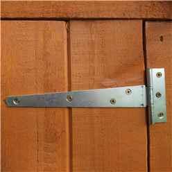 6ft x 6ft  (1.76m x 1.82m) - Dip Treated Overlap - Apex Garden Shed - Windowless - Double Doors - 10mm Solid OSB Floor