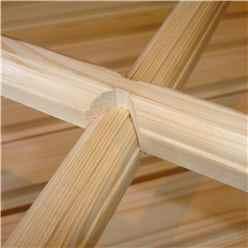 10ft x 7ft (2.97m x 2.04m) - Dip Treated Overlap - Apex Garden Shed - 2 Opening Windows - Double Doors - 10mm Solid OSB Floor