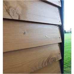 10ft x 7ft (3.02m x 2.23m) - Premier Reverse Wooden Studio Summerhouse - 2 Windows - Double Doors - 20mm Walls (CORE)