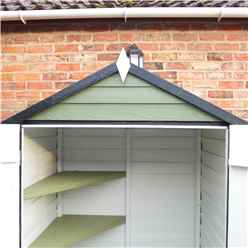 4ft x 3ft (0.91m x 1.20m) - Overlap Shed - Double Doors - Windowless - Shelving - 10mm Solid OSB Floor