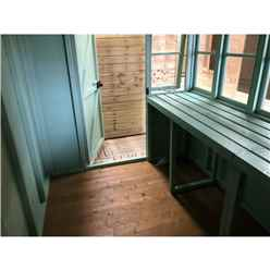 10ft x 10ft (3.04m x 2.99m) - Tongue And Groove - Pent Potting Shed - 2 Opening Windows - Single Door - 12mm Tongue And Groove Floor & Roof (BS CORE)