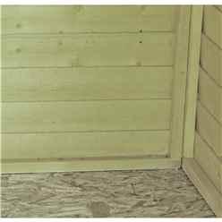 8ft x 6ft  (2.38m x 1.79m) - Pressure Treated Overlap - Apex Garden Shed - Windowless - Double Doors - 10mm Solid OSB Floor - CORE