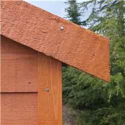 4ft x 6ft  (1.12m x 1.76m) -  Dip Treated Overlap - Apex Garden Shed - Windowless - Double Doors - 10mm Solid OSB Floor
