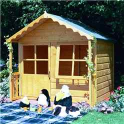 5ft x 5ft (1.49m x 1.19m) - Stowe Playhouse - 12mm Tongue & Groove - 1 Opening Window - Single Door - Apex Roof