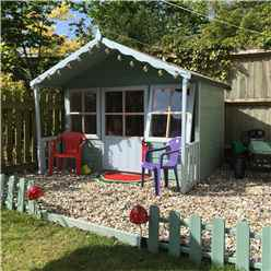 ** IN STOCK LIVE BOOKING ** 6ft x 6ft (1.79m x 1.19m) - Stowe Playhouse - 12mm Tongue & Groove - 2 Opening Windows - Single Door - Apex Roof (CORE)