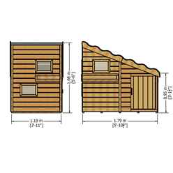 6ft x 4ft (1.79m x 1.19m) - Stowe Command Post Playhouse - 12mm Tongue & Groove - 3 Windows - Single Door - Pent Roof