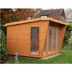 10ft x 8ft (3.06m x 2.39m) - Premier Wooden Summerhouse - Double Doors - 12mm T&G Walls & Floor