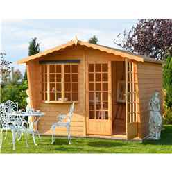 10ft x 6ft (3m x 1.79m) - Premier Wooden Summerhouse - 12mm T&G Walls - Floor - Roof