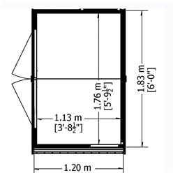 4ft x 6ft (1.20m x 1.83m) - Tongue & Groove -  Apex Garden Shed / Workshop - 1 Opening Window - Double Doors - 10mm Solid OSB Floor
