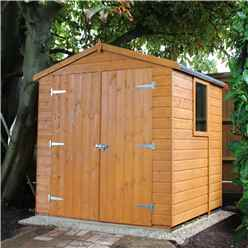 6ft x 6ft (1.79m x 1.79m) - Tongue & Groove -  Apex Garden Shed / Workshop - 1 Opening Window - Double Doors - 12mm T&G Floor