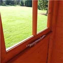 7ft x 9ft (2.05m x 2.61m) - Tongue & Groove - Apex Garden Shed - Veranda - 2 Windows - Single Door - 12mm Tongue and Groove Floor