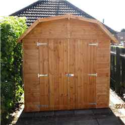 7ft x 7ft (2.05m x 1.98m) Stowe Tongue & Groove Apex Garden Shed / Barn  1 Window - Double Doors - 12mm Tongue and Groove Floor (CORE)