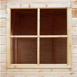 ** IN STOCK LIVE BOOKING ** 7ft x 7ft (2.07m x 2.07m) - Stowe Tongue & Groove Corner Garden Pent Shed / Workshop - 2 Opening Windows - Double Doors - 12mm T&G Floor
