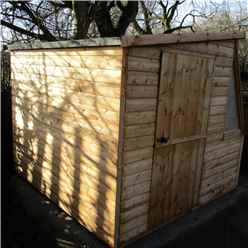 8ft x 6ft  (2.39m x 1.79m) - Tongue And Groove - Potting Shed - Opening Side Door (CORE)