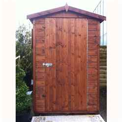 6ft x 4ft (1.79m x 1.19m) - Tongue And Groove -  Apex Workshop - 1 Window - Single Door - 12mm Tongue And Groove Floor and Roof (CORE)