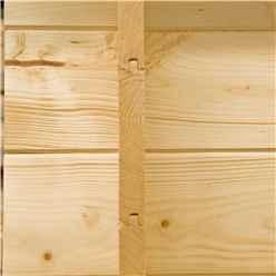 2m x 2m Premier Apex Log Cabin With Single Door and Window Shutter + Free Floor & Felt (19mm)