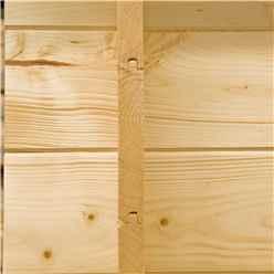2.7m x 2.7m Premier Log Cabin With Fully Glazed Single Door + Single Window + Free Floor & Felt (19mm)