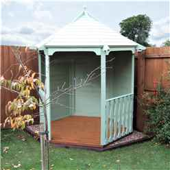 6ft x 7ft Tongue & Groove Summerhouse Arbour (12mm T&G Floor & Roof) (Pressure Treated)