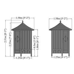 4ft x 4ft Stowe Corner Arbour