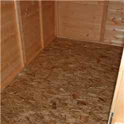 8ft x 6ft (2.39m x 1.83m) - Pressure Treated Tongue And Groove - Apex Workshop - 1 Opening Window - Single Door - 11mm OSB Solid Sheet Board