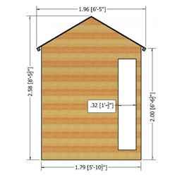 10ft x 6ft (2.99m x 1.79m) - Premier Wooden Summerhouse - Bifold Doors - 12mm T&G Walls - Floor - Roof