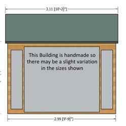 10ft x 8ft (2.99m x 2.39m) - Premier Wooden Summerhouse - Bifold Doors - 12mm T&G Walls - Floor - Roof
