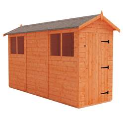 12ft x 4ft Tongue and Groove Shed (12mm Tongue and Groove Floor and Apex Roof)