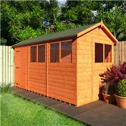 12ft x 6ft Tongue and Groove Shed (12mm Tongue and Groove Floor and Apex Roof)