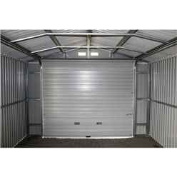 OOS - BACK SEPTEMBER 2021 - 12ft x 26ft Value - Metal Garage - Anthracite Grey (3.72m x 7.84m)