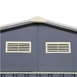 OOS - BACK SEPTEMBER 2021 - 12ft x 38ft Value - Metal Garage - Anthracite Grey (3.72m x 11.45m)
