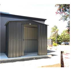 OOS - BACK JUNE 2021 - 8ft x 3ft Premier EasyFix – Apex – Metal Shed -Anthracite Grey (2.45m x 0.92m)