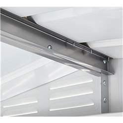 OOS - BACK JUNE 2021 - 10ft x 7ft Premier EasyFix – Apex – Metal Shed -Anthracite Grey (3.07m x 2.16m)
