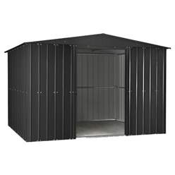 OOS - BACK MAY 2021 - 10ft x 12ft Premier EasyFix – Apex – Metal Shed -Anthracite Grey (3.07m x 3.71m)