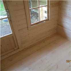 INSTALLED - 2m x 2m Premier Log Cabin With Fully Glazed Single Door and Single Window + Free Floor & Felt (19mm) INSTALLATION INCLUDED - IN STOCK BOOK A DELIVERY DATE
