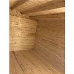 3.6m x 3.0m Premier Reverse Apex Home Office Log Cabin (Single Glazing) - Free Floor & Felt (44mm)