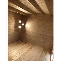 3.6m x 3.6m Premier Reverse Apex Home Office Log Cabin (Single Glazing) - Free Floor & Felt (34mm)