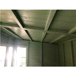 10ft x 6ft (3.04m x 1.79m) - Tongue And Groove - Pent Potting Shed - 2 Opening Windows - Single Door - 12mm Tongue And Groove Floor & Roof (BS CORE)